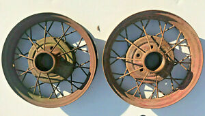 1930 1931 Ford Model A Oem 19 Inch Wheel Rims Pair Good Used A