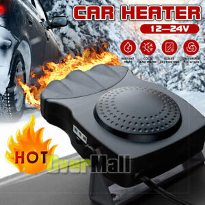 3 Outlet 12v Dc Car Auto Electric Heater Heating Cooling Fan Defroster Demister