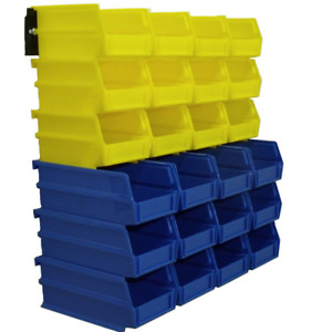Garage Storage 26 Bins Stackable Wall Mountable Small Parts Tool 4 1 8in Plastic