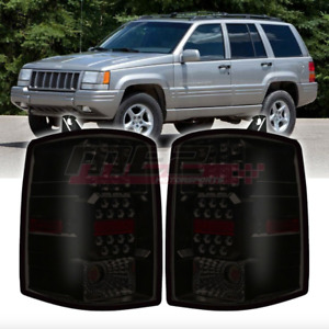 Win Je Factory Fit For 1997 1998 Jeep Grand Cherokee Led Brake Tail Lights Smoke