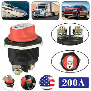 200a Battery Isolator Disconnect Kill Switch Cut On off For Car Vehicles Boat Rv
