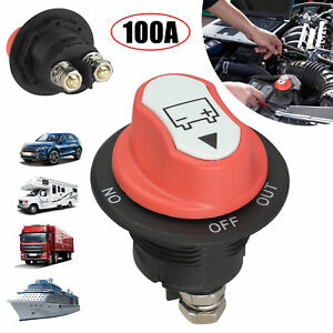 100a Battery Isolator Switch Disconnect Power Cut Off Kill For Off road Car Boat