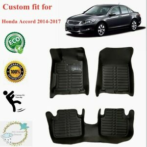 Fit For Honda Accord 2014 2017 Floor Mats Liners Xpe All Weather Black