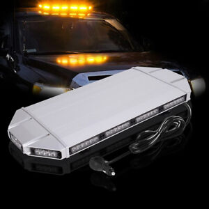 27 Amber Emergency Warning Security Strobe Light Bar Roof Top For Tow Truck