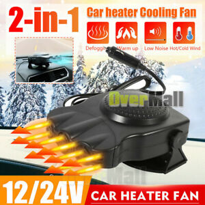 3 Outlet Dc12v Car Travel Heater Warmer Thermostat Fan Window Defroster Demister