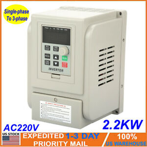 New 2 2kw Single To 3 Phase Variable Frequency Drive Vfd Speed Controller Motor