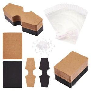 1 Set Holder Blank Tags Jewelry Display Card Self Sealing Bags Earring Stoppers