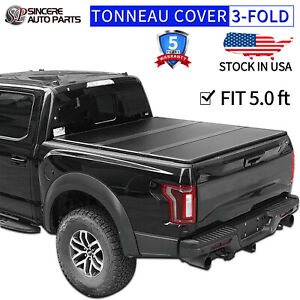 Hard Solid Tri fold Tonneau Cover Fits Jeep 2019 2020 Gladiator Sport 5ft Bed