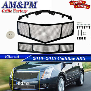 Fits 2010 2015 Cadillac Srx Stainless Steel Mesh Grille Grill Insert Combo Pack