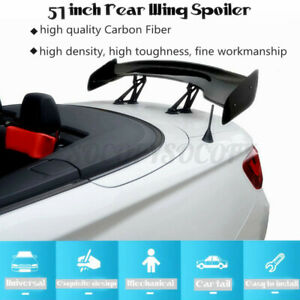 Universal 57 Real Carbon Fiber Adjustable Rear Trunk Gt Style Spoiler Wing Us