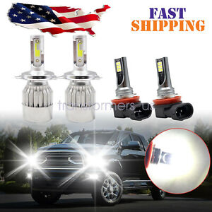 Combo Led Headlight Kit Hi low Beam fog Light Bulbs For 2012 2015 Toyota Tacoma