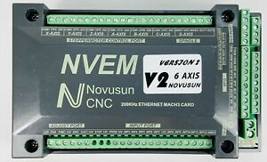 Nvem Cnc 6 Axis Controller Mach3 mpg Ethernet Interface Motion Control Board