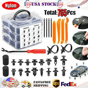 723 Pcs Car Retainer Nylon Auto Fasteners Push Trim Clips Pin Rivet Bumper Kit