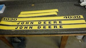 John Deere 4030 Decals Hood And Numbers Only See Pictures And Details