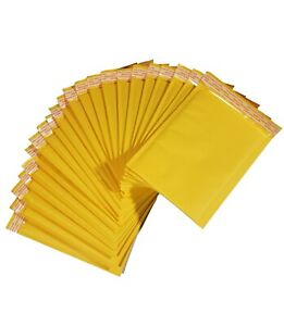 6 X 8 Inches Usable Kraft Yellow Bubble Mailers Envelopes Pack Of 180 360 540