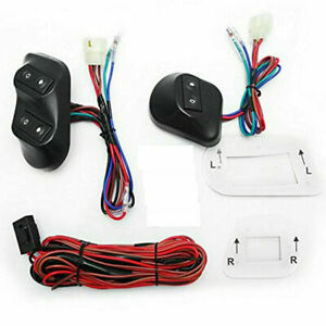 12v 24v Universal Car Electric Power Window Switch Holder Kit wire Harness Cable