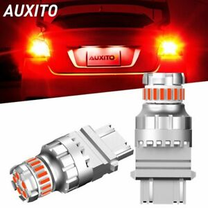Auxito 3157 3057 3357 4057 4157 Led Brake Stop Tail Light Bulbs Red Strobe Flash
