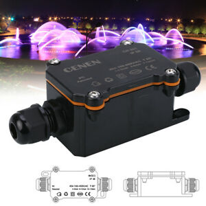 450v 2 Way Waterproof Electrical Cable Wire Connector Junction Case Box Ip68