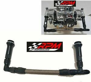 8 An 8an Holley Carb Carburetor Street Avenger Dual Feed Fuel Line Braided F18
