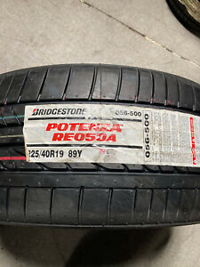 1 New 225 40 19 Bridgestone Potenza Re050a Tire