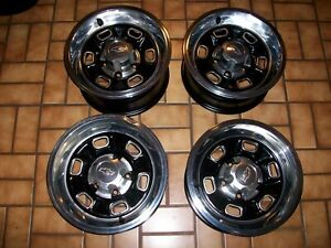 1968 1974 Chevy Nova Camaro Chevelle 2 14x7 2 14x6 Rally Wheels Center Caps
