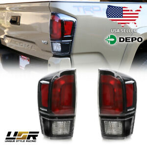 New 2020 Black Trd Pro Rear Tail Light Pair Plug Play For 2016 2021 3g Tacoma