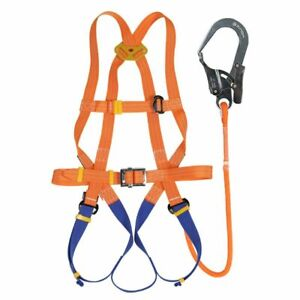 Full Body Safety Harness Fall Arrest 5 point Harness Set Work Fall Protection