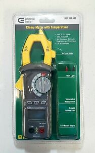 New Commercial Electric Clamp Meter With Temperature 600v Ac dc Voltage