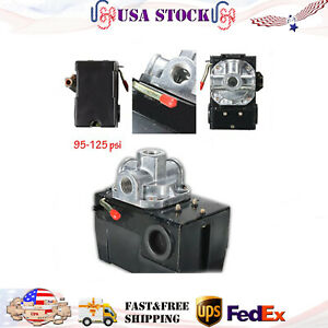 95 125 Psi Pressure Switch For Air Compressor 4 Port 26 Amp Universal Heavy Duty