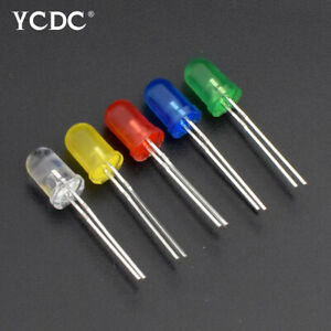 5mm Round Head 5 Colors Led Light Emitting Diode Lamps Dc1 8 3 2v Kit 100pcs 20