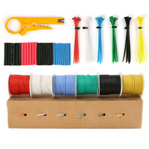 30 Awg Gauge Stranded Wire Hook Up Electrical Wire Silicone Cables Kit 6 Rolls
