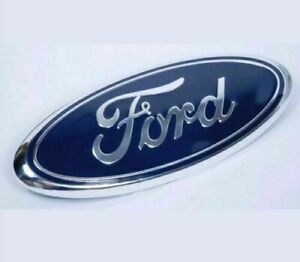 1 Pcs Blue Chrome 2005 2014 Ford F150 Front Grille tailgate 9 Inch Oval Emblem