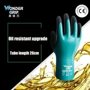 1 Pair Oilproof Waterproof Anticut Safety Work Long Sleeve Cleaning Gloves