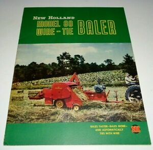 New Holland Model 80 Hay Baler Sales Brochure 1951 Literature Nh Original Wire