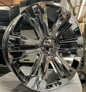 26 Gmc Sierra Yukon Denali Chrome Wheels Tires Chevy Silverado Tahoe Rims New