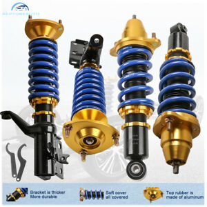 For 02 06 Acura Rsx Type S Base Front Rear Full Coilover Struts Shocks Adjust