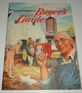 Massey Harris Buyers Guide Sales Brochure Manual Colt Mustang 33 44 55 Tractors