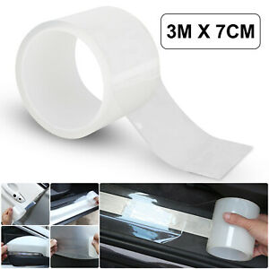 7cm Protector Sill Scuff Cover Car Door Plate Sticker Anti Scratch Bumper Strip