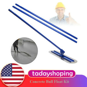 Concrete Bull Float Kit 1200mm Stainless 1 Handles Cement Trowel Wiping Tool