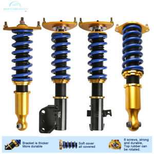 4pcs For 08 13 Subaru Impreza Blue Full Coilover Struts Shock Suspension Tools