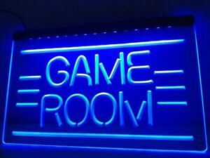 Games Room Neon Led Light Sign Bar Pub quality Display Home Man Cave Game