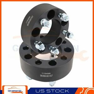 2 2 Wheel Spacers 5x4 5 To 5x4 5 1 2 X20 Studs For Ford Mustang Lincoln Black