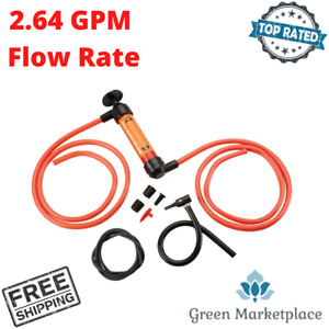 Multi Use Fluid Transfer Pump Manual Hand Pump For Changing Oil Siphoning Gas