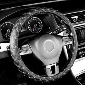 New Pu Leather Car Truck Black Red Steering Wheel Cover For Dodge Challenger