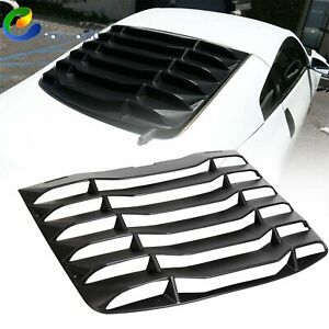 For 2003 2008 Nissan 350z Matte Black Rear Windshiled Window Louvers Cover Abs