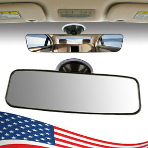 Car Truck Boat Suction Cup Rearview Mirror Interior Rear View Enhancement Clear