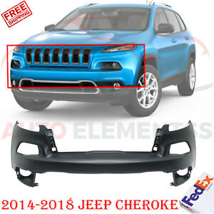 Front Bumper Cover Primed For 2014 2018 Jeep Cherokee
