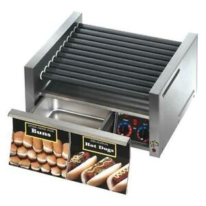 Star 30scbd Grill max Pro 30 Hot Dog Roller Grill W Bun Drawer