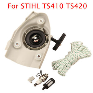 For Stihl Ts410 Ts420 ts480i Handles Spare Parts Concrete Saw Recoil Starter New