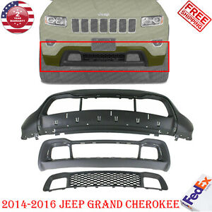 Front Bumper Cover Low Grille Frame For 2014 2016 Jeep Grand Cherokee